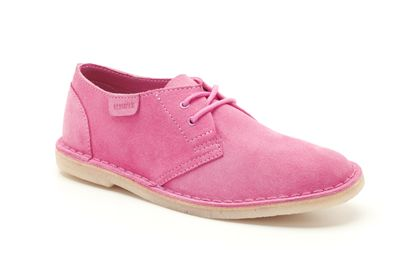 Jink Soft Pink Suede Womens Originals Shoes £69 click to visit Clarks