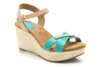 Perfect Laugh 4 (4 reviews) Turquoise Leather Womens Casual Sandals £43.99 click to visit Clarks