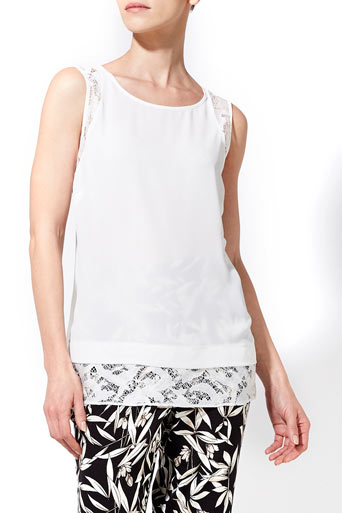 Ivory Lace Insert Shell Top Was £28.00 Now £19.60 click to visit Wallis