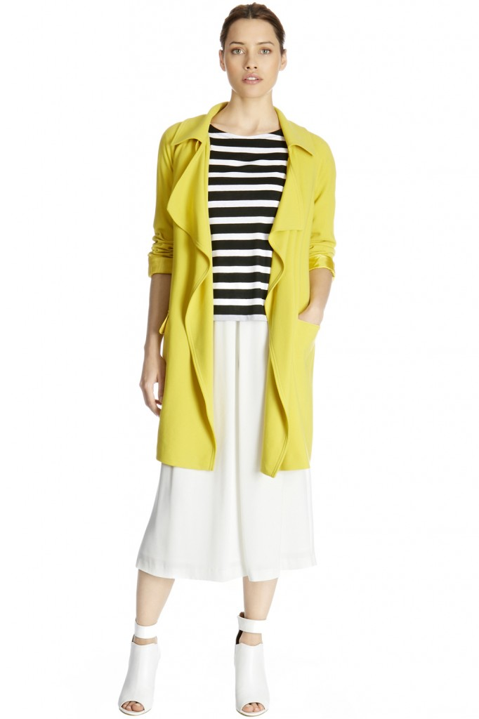 DRAPED TRENCH £95.00 click to visit Warehouse