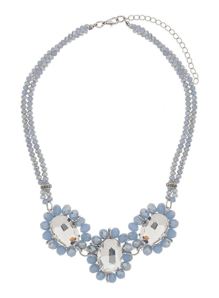 Blue Sparkle Bead Necklace     Price: £15.00 click to visit Dorothy Perkins
