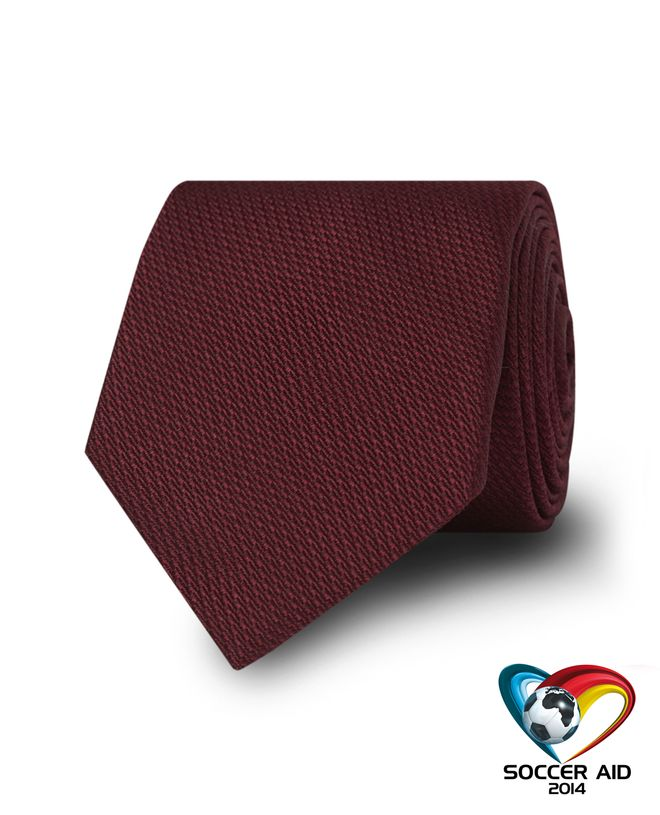 Burgundy Soccer Aid Charity Slim Tie (£10 donated) click to visit TM Lewin