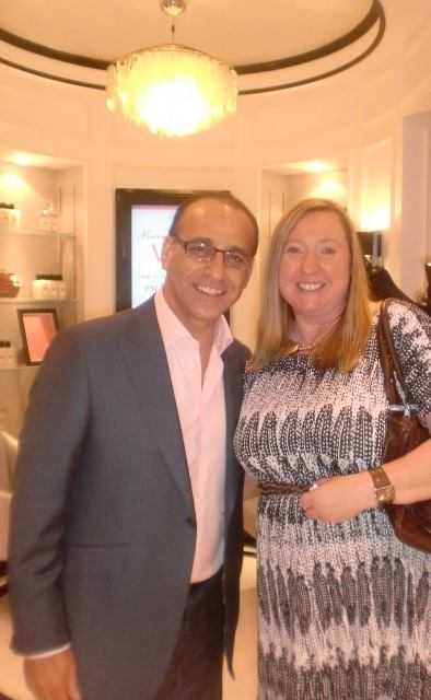 With Theo Paphitis at the Birmingham Boux Avenue launch