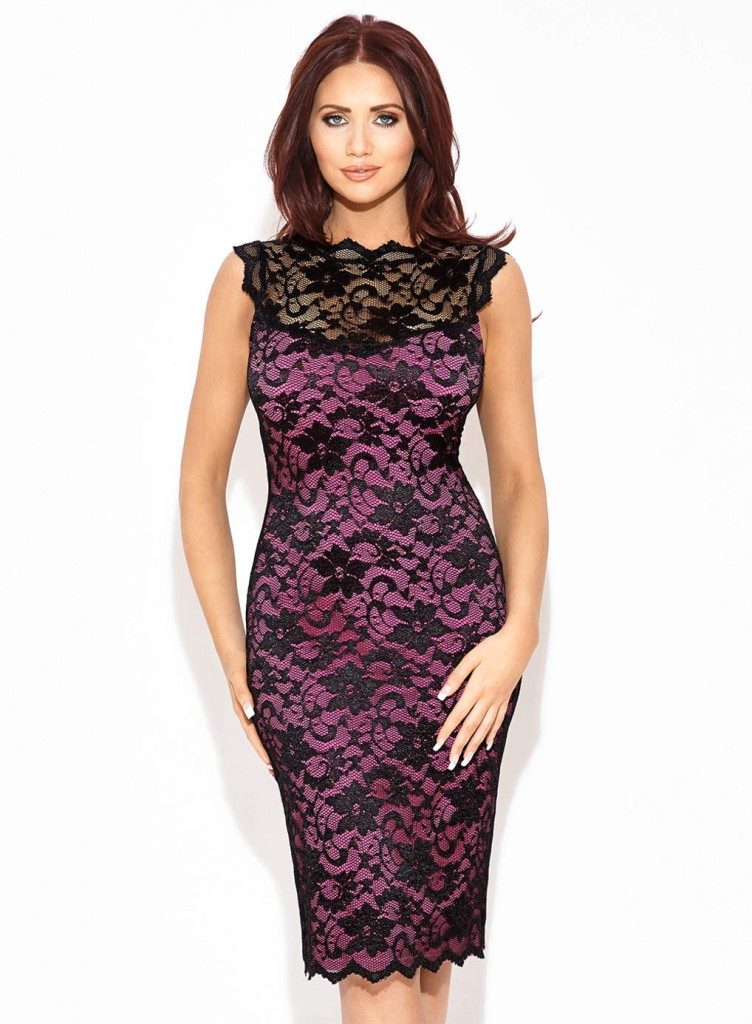Amy Childs 'Lexi' pink sleeveless lacedress     Price: £65.00 click to visit Dorothy Perkins