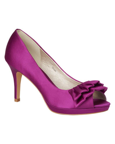 Frill Detail Satin Court Shoes £89.00 click to visit Phase Eight