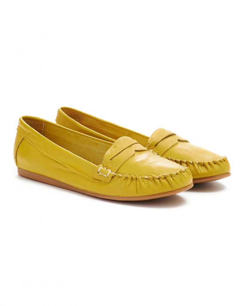 Elna Womens Leather Loafers, Yellow £64.95 click to visit Joules