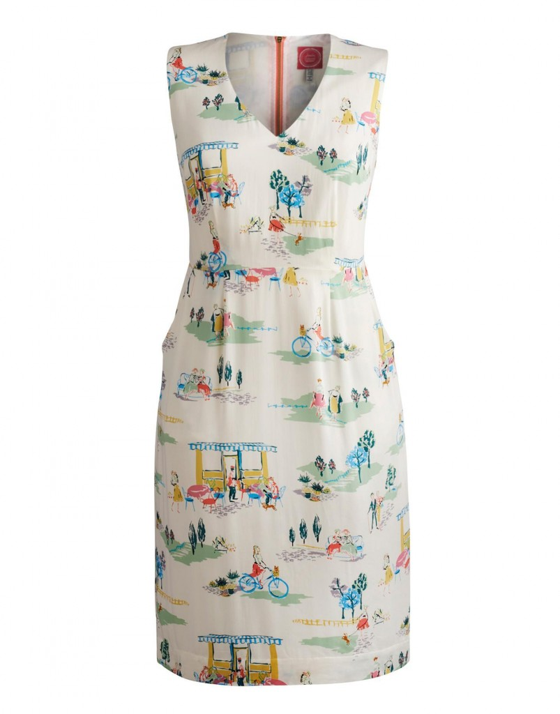 Adrienne Womens Patterned Dress, Creme Cafe Print £74.95 click to visit Joules