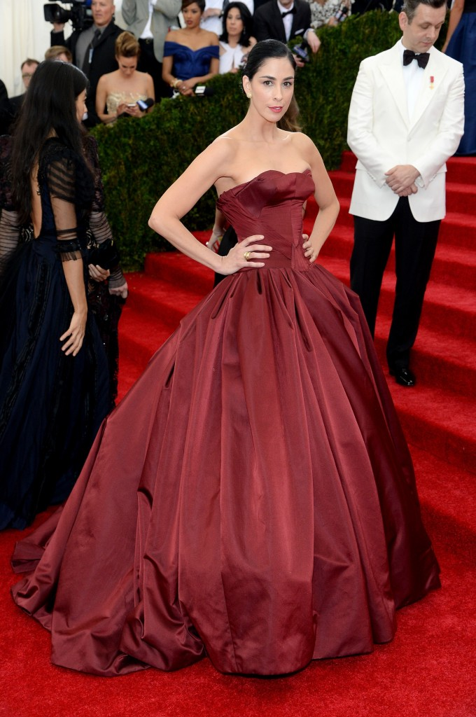Sarah Silverman in Zac Posen