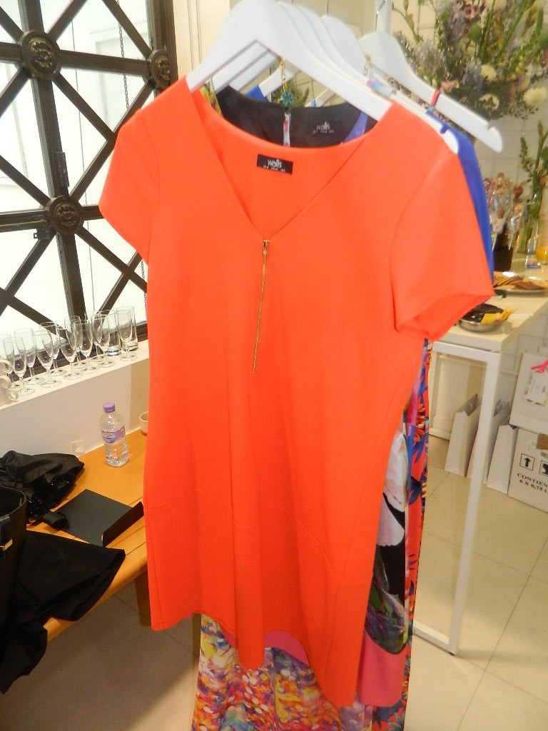 Orange Zip Front Crepe Dress     Was £35.00     Now £28.00 click to visit Wallis