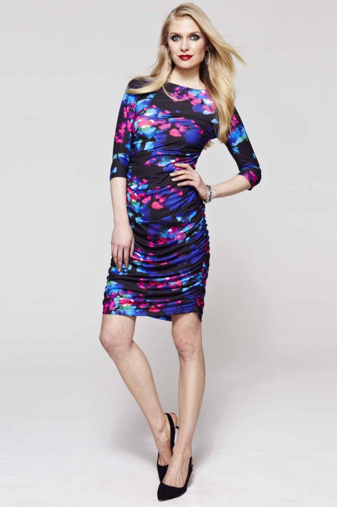 Hotsquash Abstract Ruched dress now £79 click to visit Debenhams