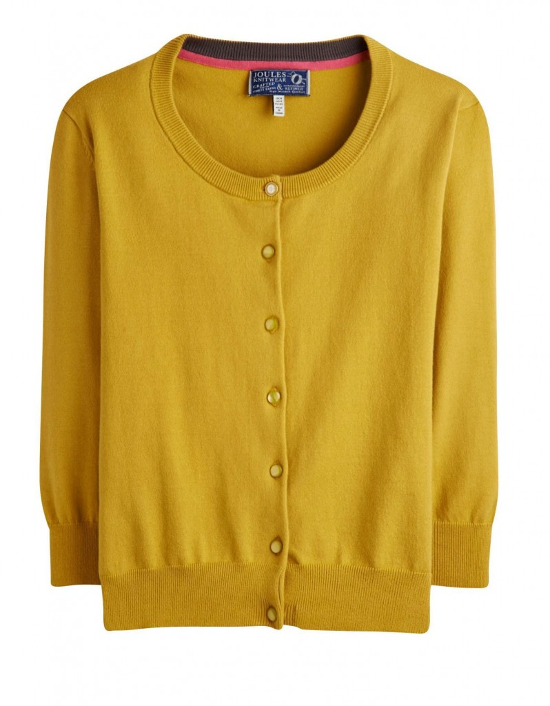 Annie Womens Cardigan, Gold £49.95 click to visit Joules
