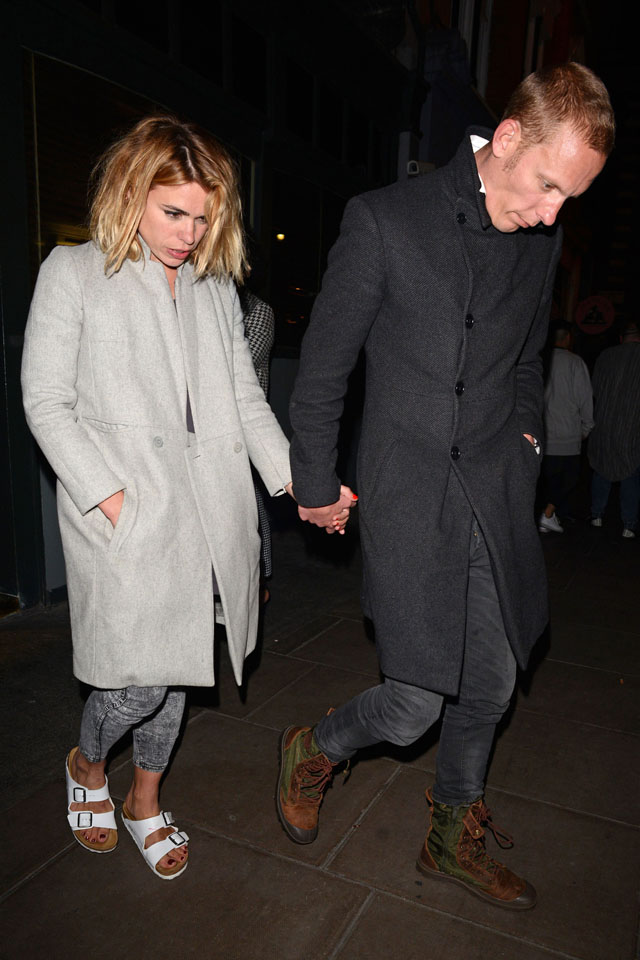 Billie Piper and Laurence Fox at the Groucho Club, London, Britain - 24 Apr 2014