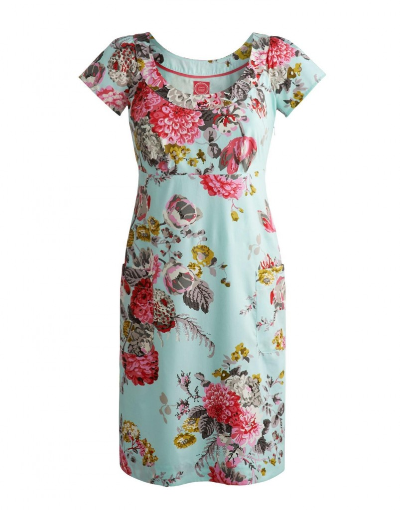 Marcie Womens Cotton Dress, Opal Blue £64.95 click to visit Joules