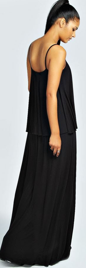 Mia Strappy Double Layer Maxi Dress Product code: azz32926 click to visit Boohoo