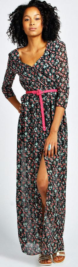 Angela Floral Maxi Shirt Dress Product code: azz29014 £25 click to visit Boohoo