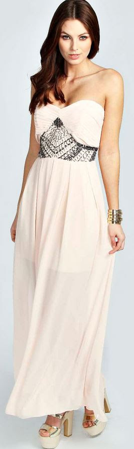 Emma Embellished Waist Pleated Woven Maxi Dress Product code: azz29119 £35 click to visit Boohoo