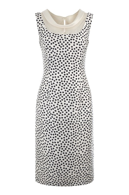 Square Spot Shift Dress Item No 010/031280/245 / Price £149.00 click to visit Jacques Vert