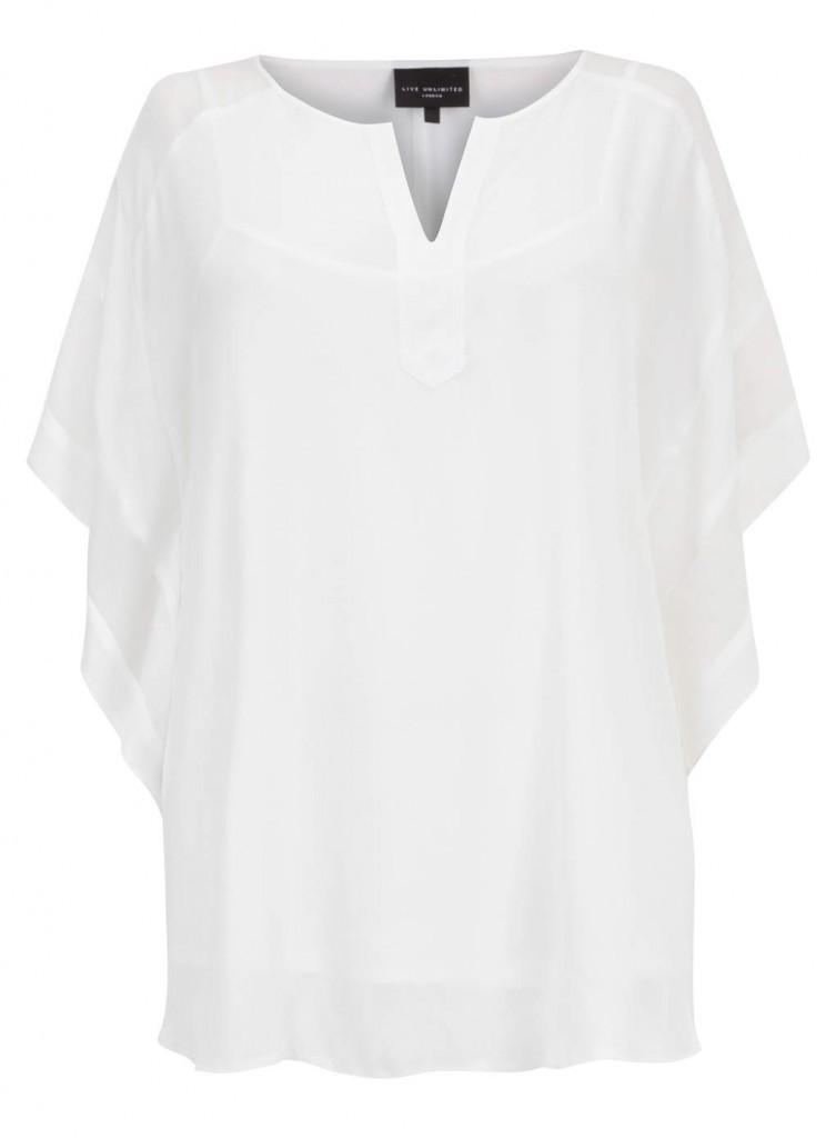 Live Unlimited White Kaftan Style Top     Price: £45.00 click to visit Evans