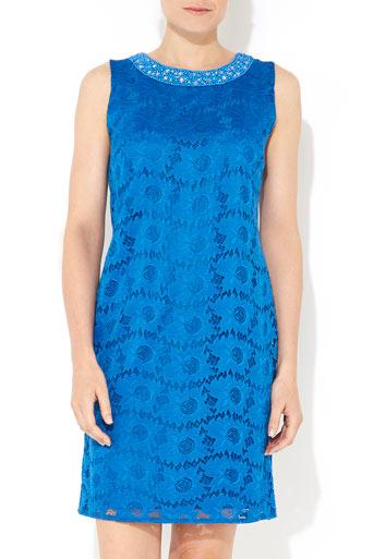Blue Embellished Lace Dress     Price: £45.00 click to visit Wallis