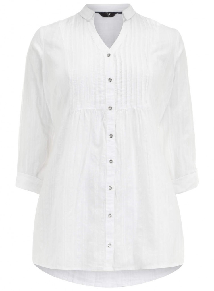 Evans White Dobby Shirt     Price: £29.50 click to visit Evans