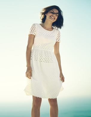 Pretty Broderie Dress £99 click to visit Boden