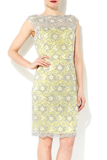 Yellow And Grey Lace Shift Dress     Price: £65.00 click to visit Wallis