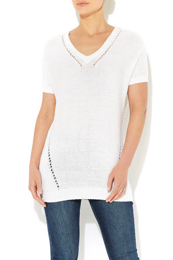 White V-Neck Jumper     Was £30.00     Now £24.00 click to visit Wallis