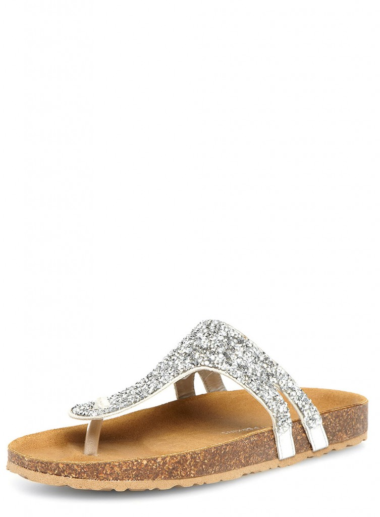 Silver Bling Toe Post Footbeds     Was £25.00     Now £20.00 click to visit Dorothy Perkins