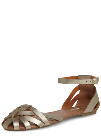 Gold weave strap sandals     Was £20.00     Now £18.00  click to visit Dorothy Perkins