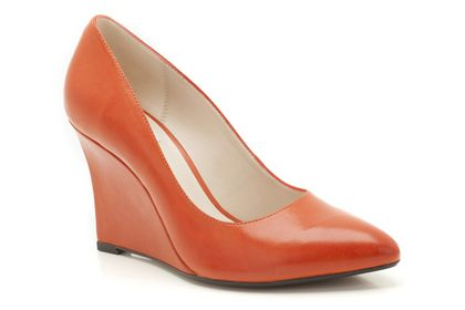 Azizi Isis Orange Leather now £39.99 click to visit Clarks