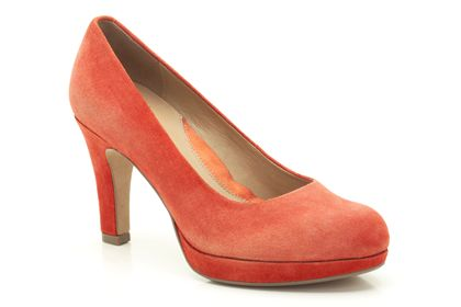 Anika Kendra Orange Suede £45 click to visit Clarks