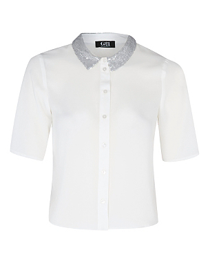 G21 Talent Sequin Collar Shirt £14.00 click to visit George at Asda