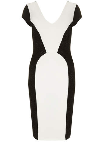 Amy Childs 'Elizabeth' Black white pencil dress     Price: £70.00 click to visit Dorothy Perkins