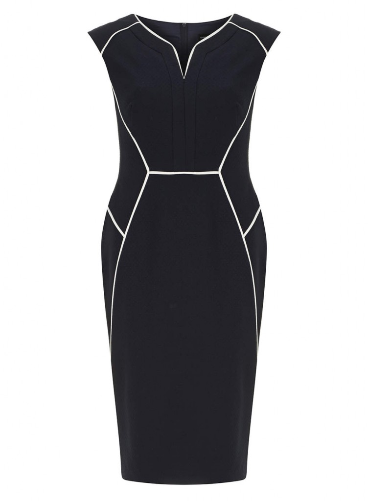 Navy Block Piped Dress     Price: £25.00 click to visit Dorothy Perkins