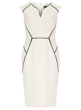 Ivory Block Piped Dress     Price: £25.00 click to visit Dorothy Perkins