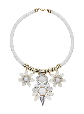 White Stone Flower Necklace     Price: £14.50 click to visit Miss Selfridge