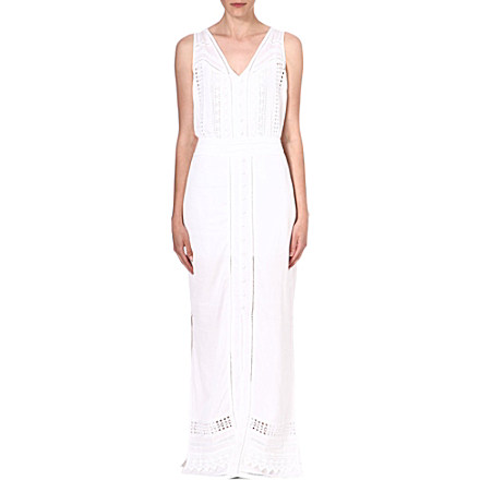 WAREHOUSE Crochet maxi dress £75 click to visit Selfridges