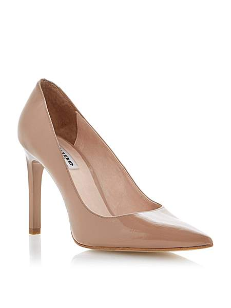 Dune Arwenn patent pointed toe stiletto court shoes £75 click to visit House of Fraser