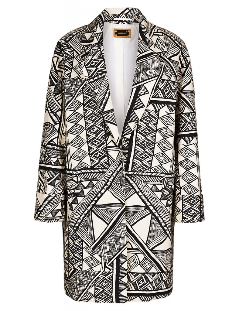 PER UNA Abstract Print Coat T620913J £55.20 click to visit M&S