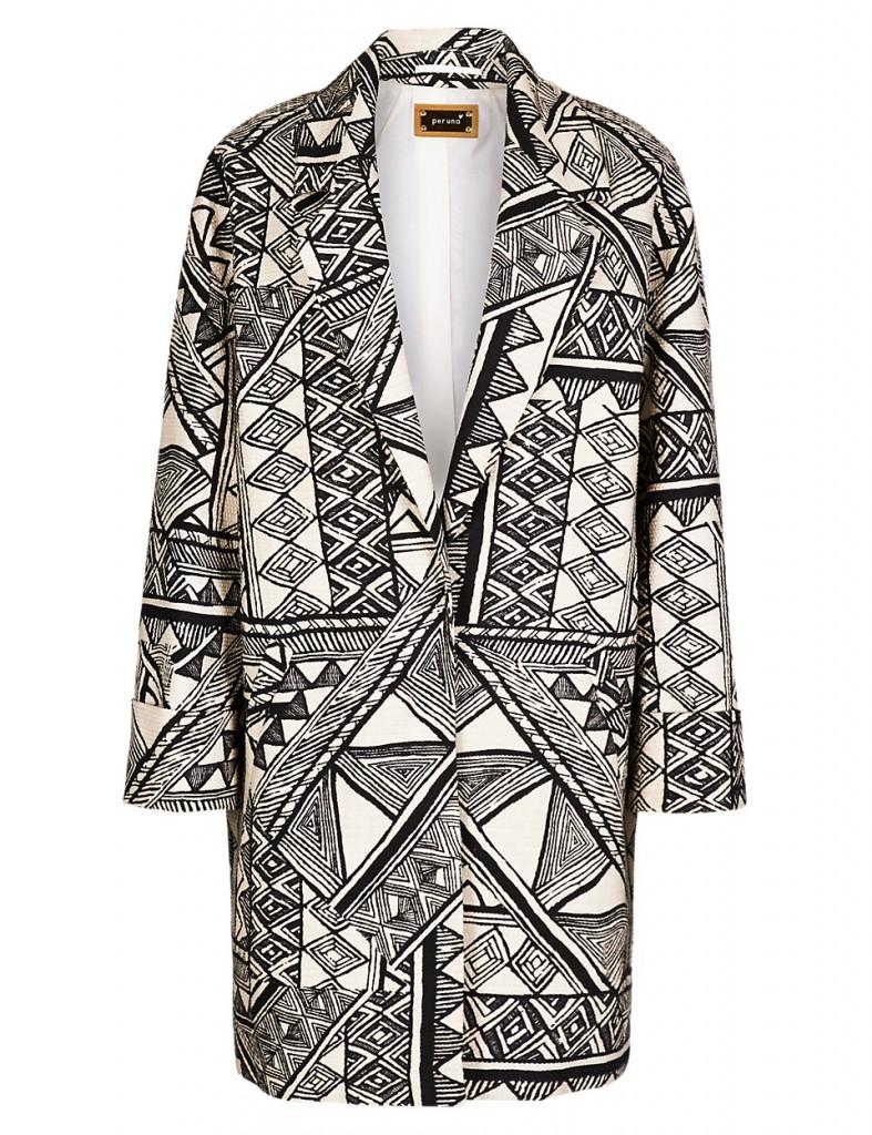 PER UNA Abstract Print Coat T620913J £55.20 click to visit M&S