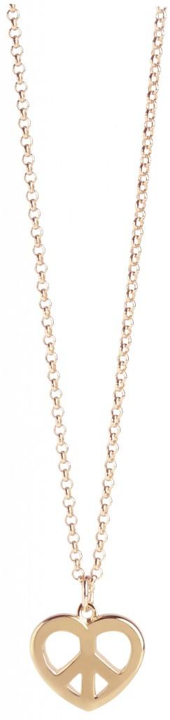Muru Peace & Love Pendant In Gold Vermeil £54.00 click to visit Lulu Winter