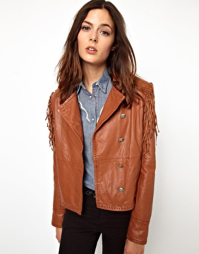 Levi's Fringed Leather Jacket £400.00 NOW £280.00 click to visit ASOS