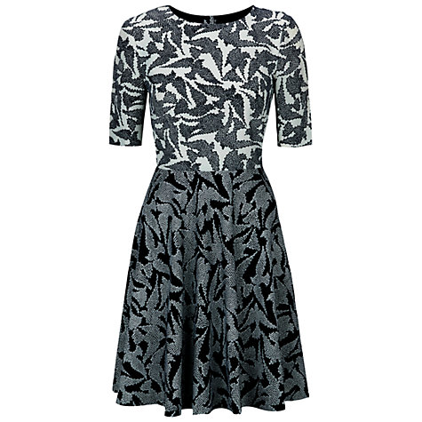 Hobbs Swallow Block Dress, Navy Ivory click to visit John Lewis