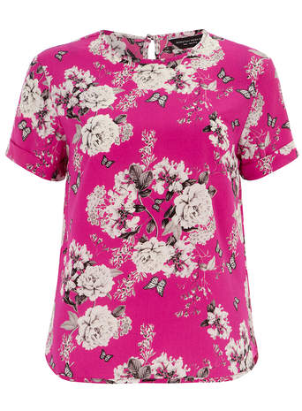 Fushcia Butterfly Print Tee     Price: £22.00 click to visit Dorothy Perkins