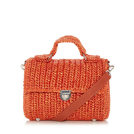 Betty Jackson. Black Designer orange straw effect satchel £28 click to visit Debenhams