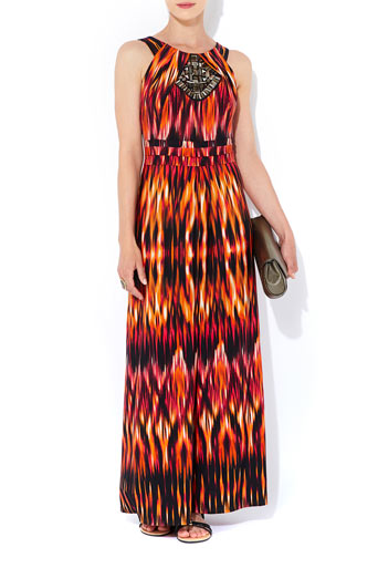 Orange Petite Maxi Dress     Was £55.00     Now £38.50 click to visit Wallis