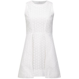 View large image Victoria Beckham Women's Overlap Dress - White Broderie Anglaise £238.00  click to visit Coggles