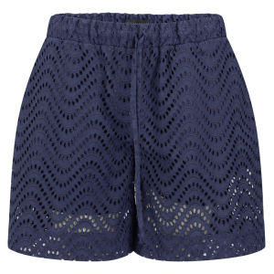 Victoria Beckham Women's Bermuda Shorts - Navy Broderie Anglaise £103.00 click to visit Coggles