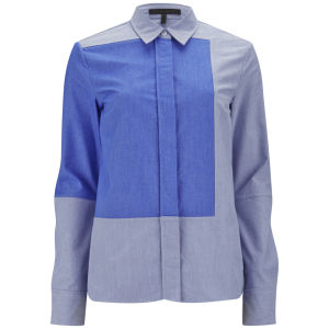 Victoria Beckham Womens Panel Shirt - Blue Oxford £265.00  click to visit Coggles