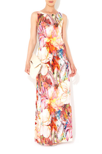 Flower Column Maxi Dress     Was £55.00     Now £44.00 click to visit Wallis